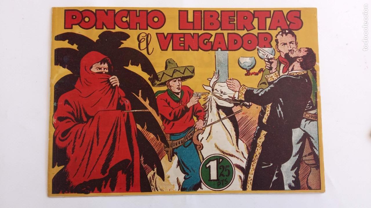 Tebeos: PONCHO LIBERTAS ORIGINALES NºS - 4,6,9,11,12 ÚLTIMO - EDI. MARCO 1945, MUY BUEN ESTADO, LE RALLIC - Foto 4 - 234582740