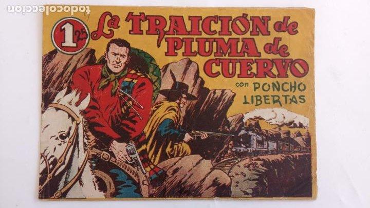 Tebeos: PONCHO LIBERTAS ORIGINALES NºS - 4,6,9,11,12 ÚLTIMO - EDI. MARCO 1945, MUY BUEN ESTADO, LE RALLIC - Foto 6 - 234582740