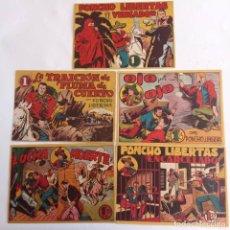 Tebeos: PONCHO LIBERTAS ORIGINALES NºS - 4,6,9,11,12 ÚLTIMO - EDI. MARCO 1945, MUY BUEN ESTADO, LE RALLIC. Lote 234582740