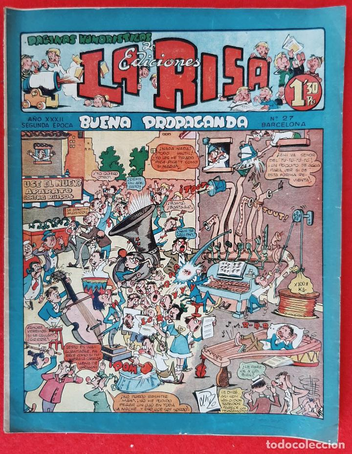 LA RISA SEGUNDA EPOCA Nº 27 BUENA PROPAGANDA CROMO FUTBOL VALENCIA EDITORIAL MARCO ORIGINAL CT3 (Tebeos y Comics - Marco - La Risa)