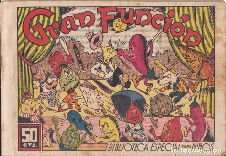 """COMIC """" BIB. ESPECIAL PARA NIÑOS - HIPO, MONITO Y FIFI - GRAN FUNCIÓN """" ED. MARCO (50 CTMS) AÑOS 40 (Tebeos y Comics - Marco - Hipo (Biblioteca especial))"""