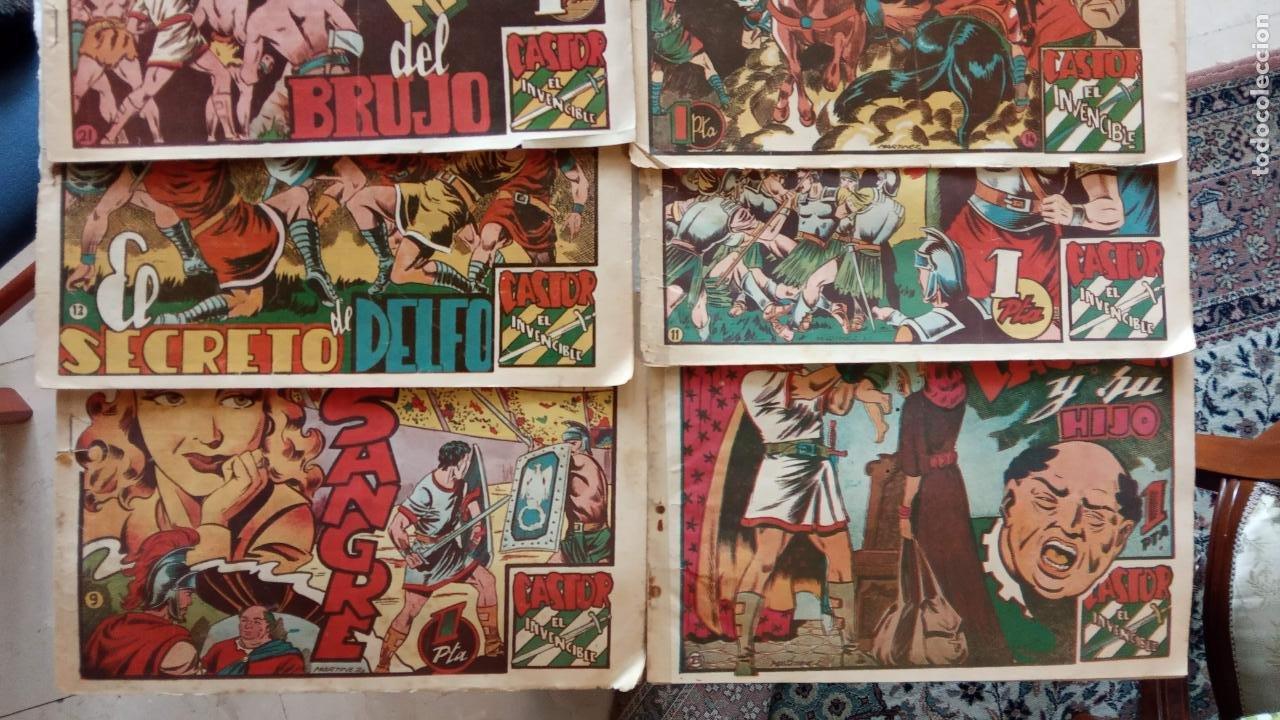 Tebeos: CASTOR EL INVENCIBLE ORIGINALES 1951 EDI. MARCO - POR MARTÍNEZ - VER TODAS LAS PORATADAS Y CONTRAS - Foto 3 - 236657270
