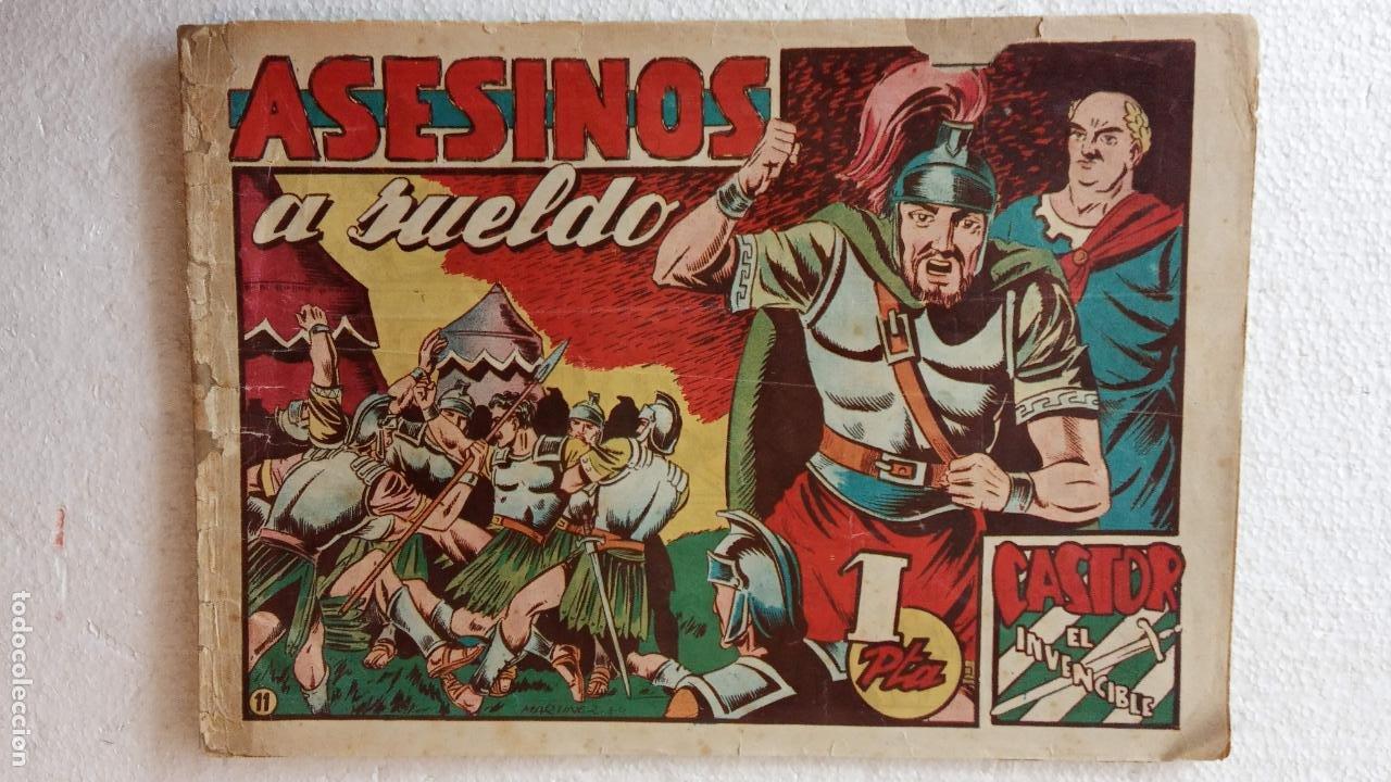 Tebeos: CASTOR EL INVENCIBLE ORIGINALES 1951 EDI. MARCO - POR MARTÍNEZ - VER TODAS LAS PORATADAS Y CONTRAS - Foto 12 - 236657270