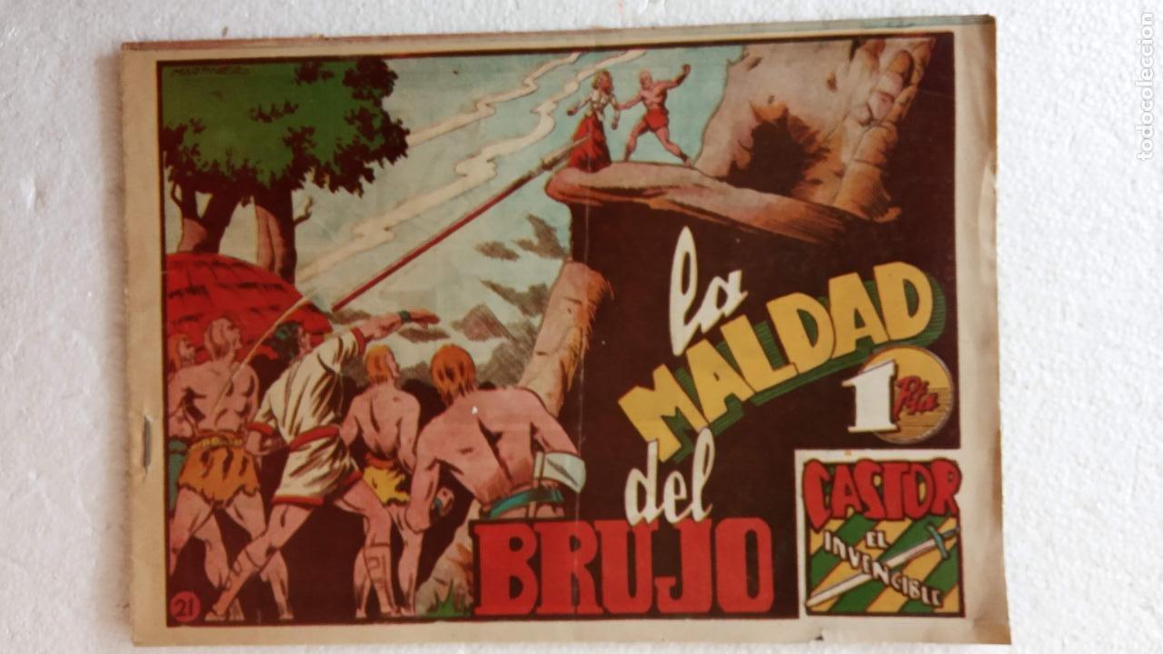 Tebeos: CASTOR EL INVENCIBLE ORIGINALES 1951 EDI. MARCO - POR MARTÍNEZ - VER TODAS LAS PORATADAS Y CONTRAS - Foto 17 - 236657270