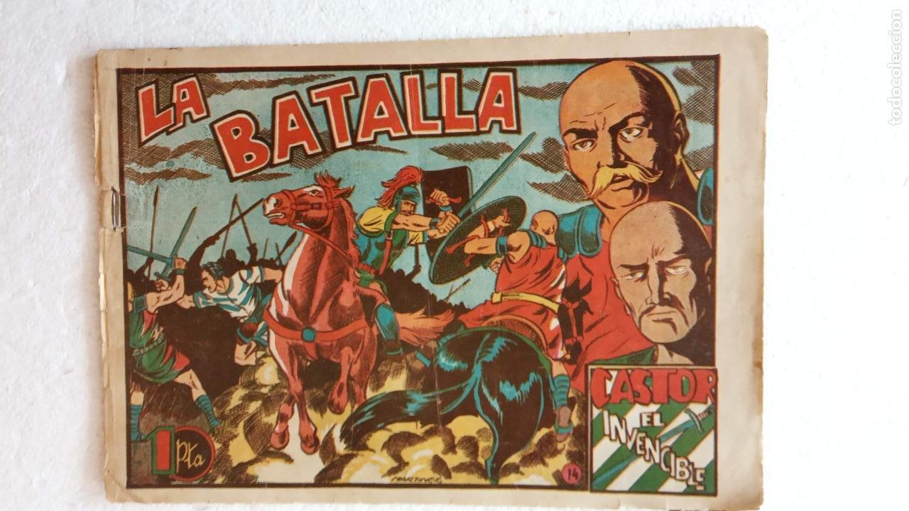 Tebeos: CASTOR EL INVENCIBLE ORIGINALES 1951 EDI. MARCO - POR MARTÍNEZ - VER TODAS LAS PORATADAS Y CONTRAS - Foto 18 - 236657270