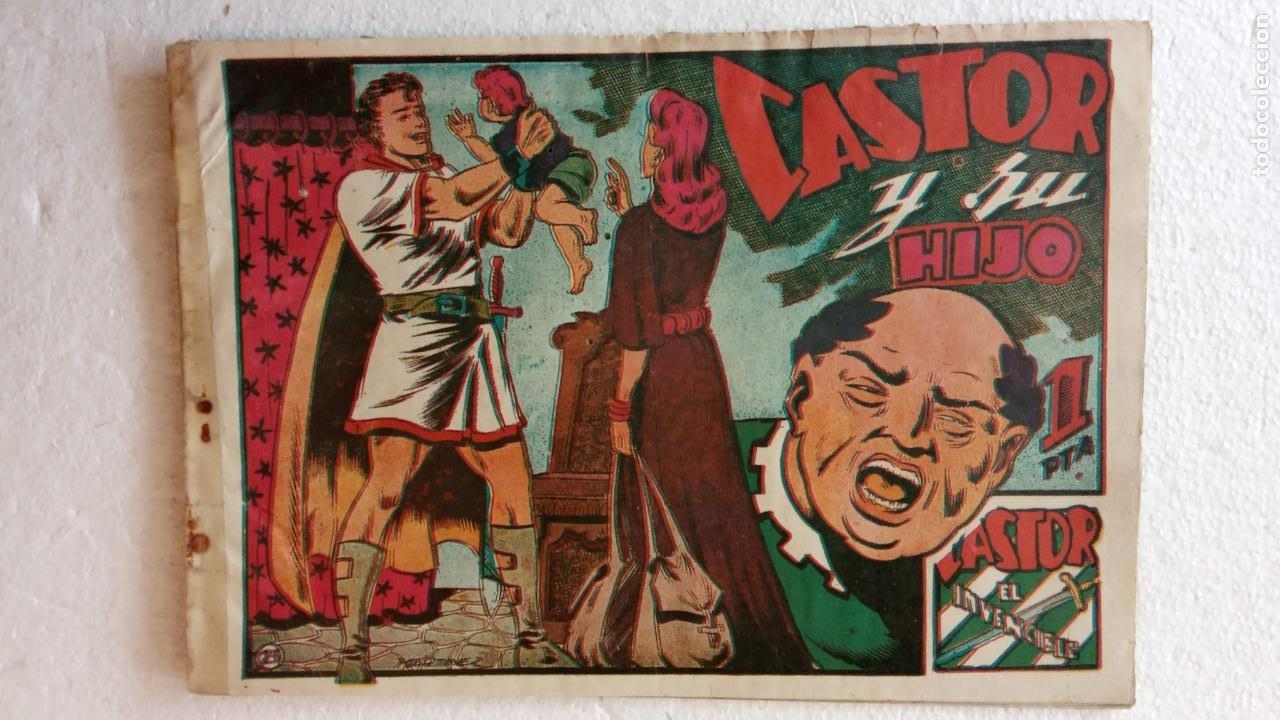 Tebeos: CASTOR EL INVENCIBLE ORIGINALES 1951 EDI. MARCO - POR MARTÍNEZ - VER TODAS LAS PORATADAS Y CONTRAS - Foto 21 - 236657270