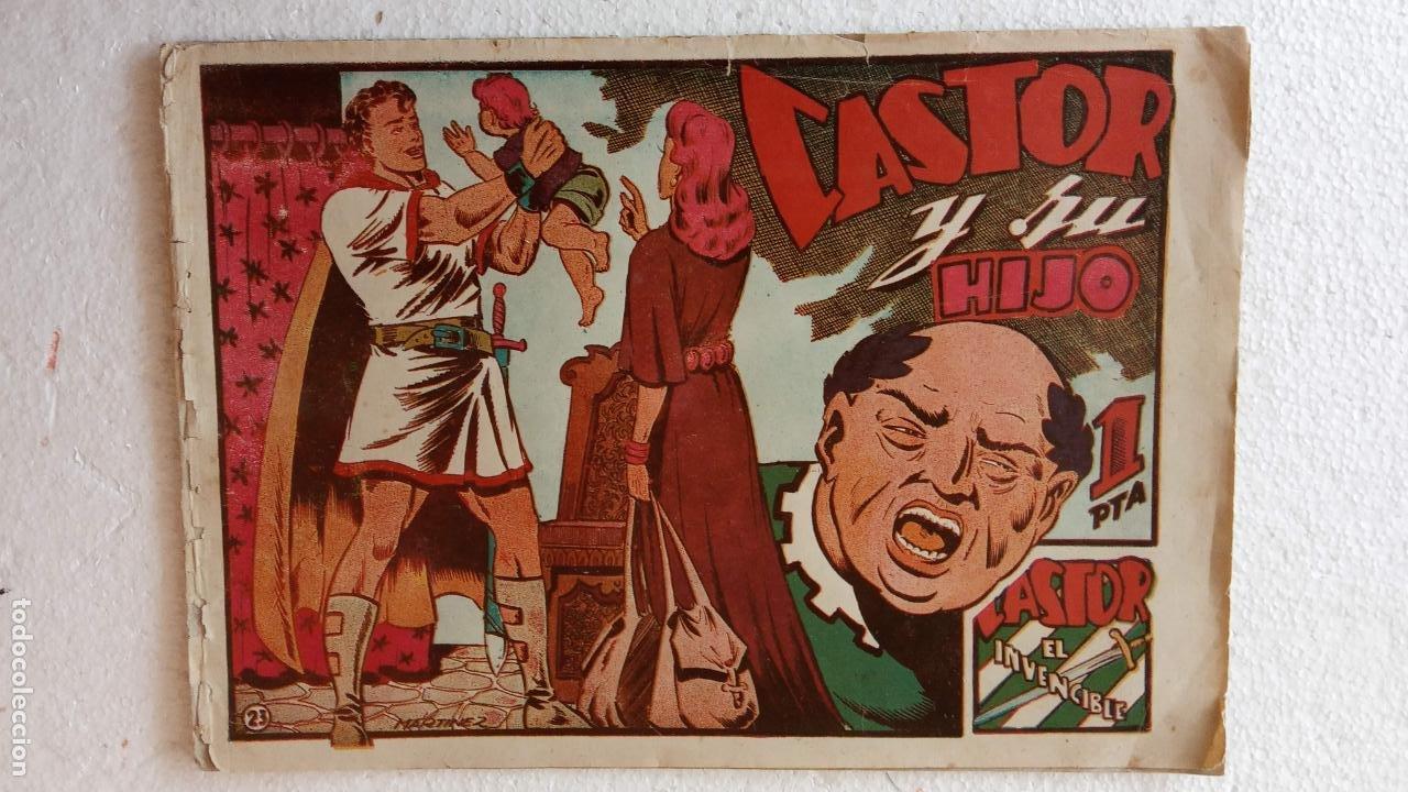 Tebeos: CASTOR EL INVENCIBLE ORIGINALES 1951 EDI. MARCO - POR MARTÍNEZ - VER TODAS LAS PORATADAS Y CONTRAS - Foto 23 - 236657270