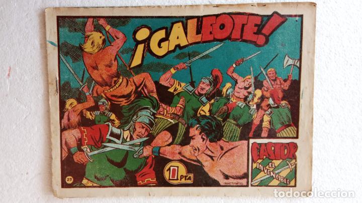 Tebeos: CASTOR EL INVENCIBLE ORIGINALES 1951 EDI. MARCO - POR MARTÍNEZ - VER TODAS LAS PORATADAS Y CONTRAS - Foto 26 - 236657270