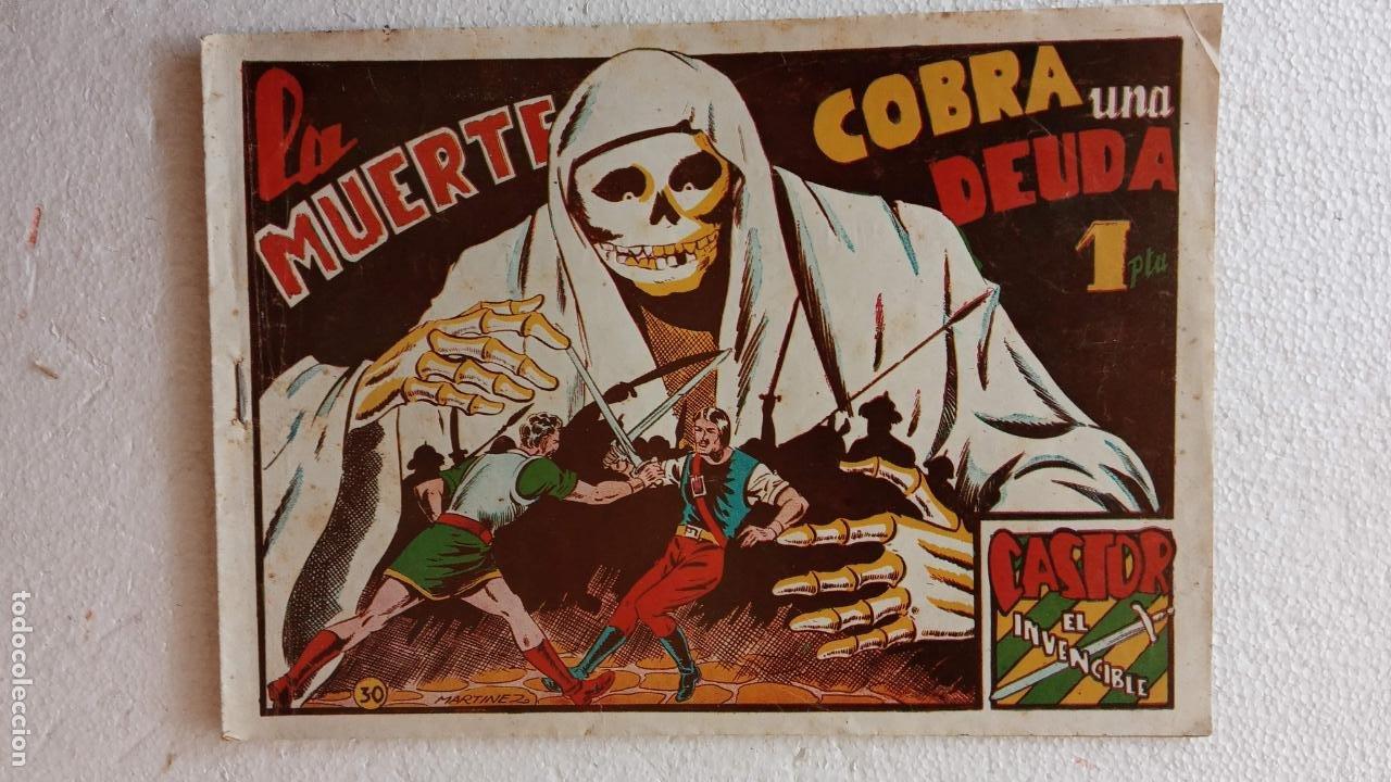 Tebeos: CASTOR EL INVENCIBLE ORIGINALES 1951 EDI. MARCO - POR MARTÍNEZ - VER TODAS LAS PORATADAS Y CONTRAS - Foto 27 - 236657270
