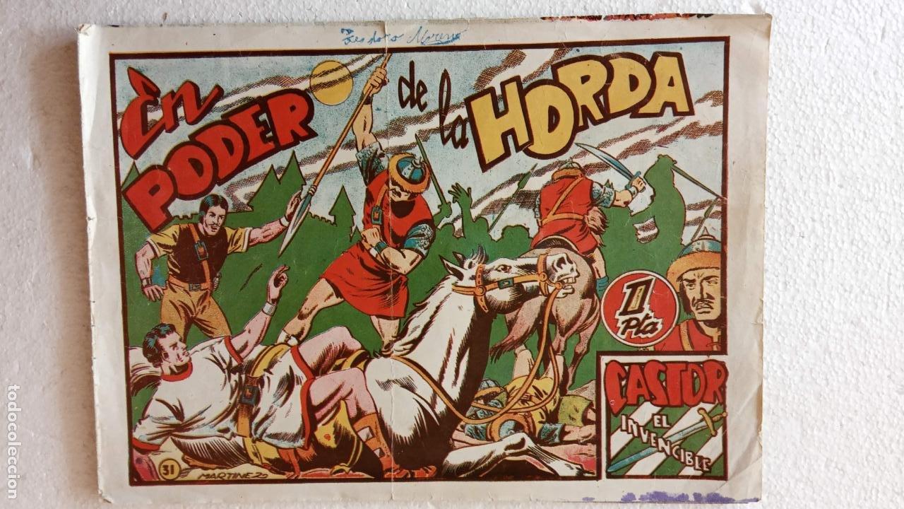 Tebeos: CASTOR EL INVENCIBLE ORIGINALES 1951 EDI. MARCO - POR MARTÍNEZ - VER TODAS LAS PORATADAS Y CONTRAS - Foto 30 - 236657270