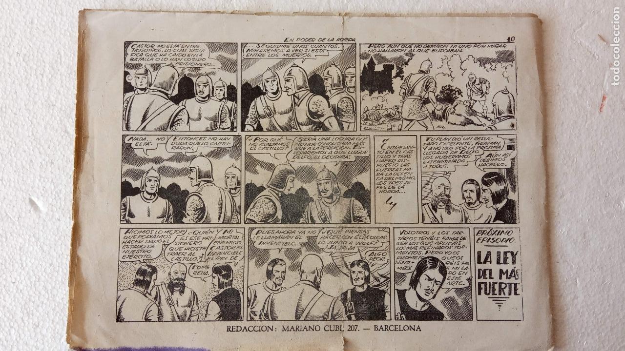 Tebeos: CASTOR EL INVENCIBLE ORIGINALES 1951 EDI. MARCO - POR MARTÍNEZ - VER TODAS LAS PORATADAS Y CONTRAS - Foto 33 - 236657270