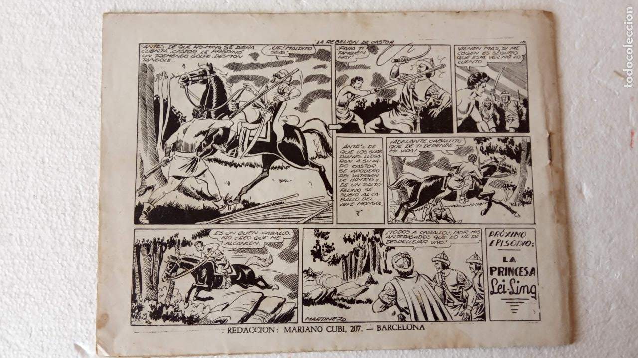Tebeos: CASTOR EL INVENCIBLE ORIGINALES 1951 EDI. MARCO - POR MARTÍNEZ - VER TODAS LAS PORATADAS Y CONTRAS - Foto 36 - 236657270