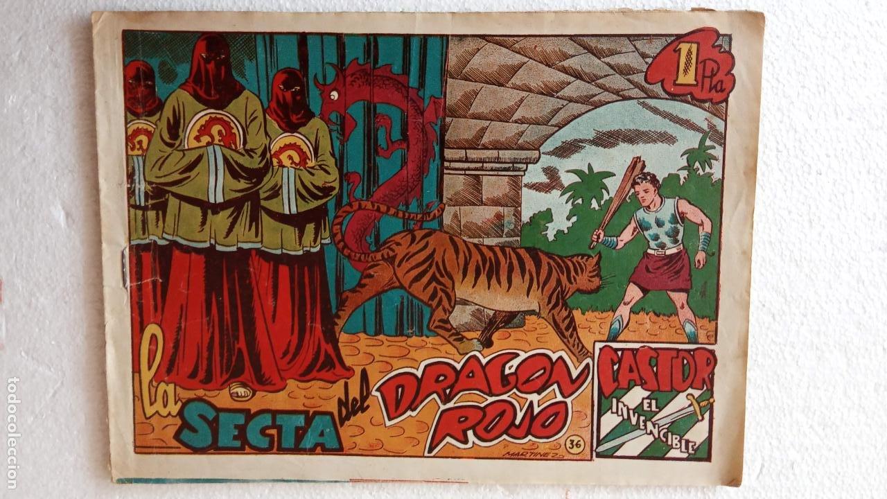 Tebeos: CASTOR EL INVENCIBLE ORIGINALES 1951 EDI. MARCO - POR MARTÍNEZ - VER TODAS LAS PORATADAS Y CONTRAS - Foto 40 - 236657270
