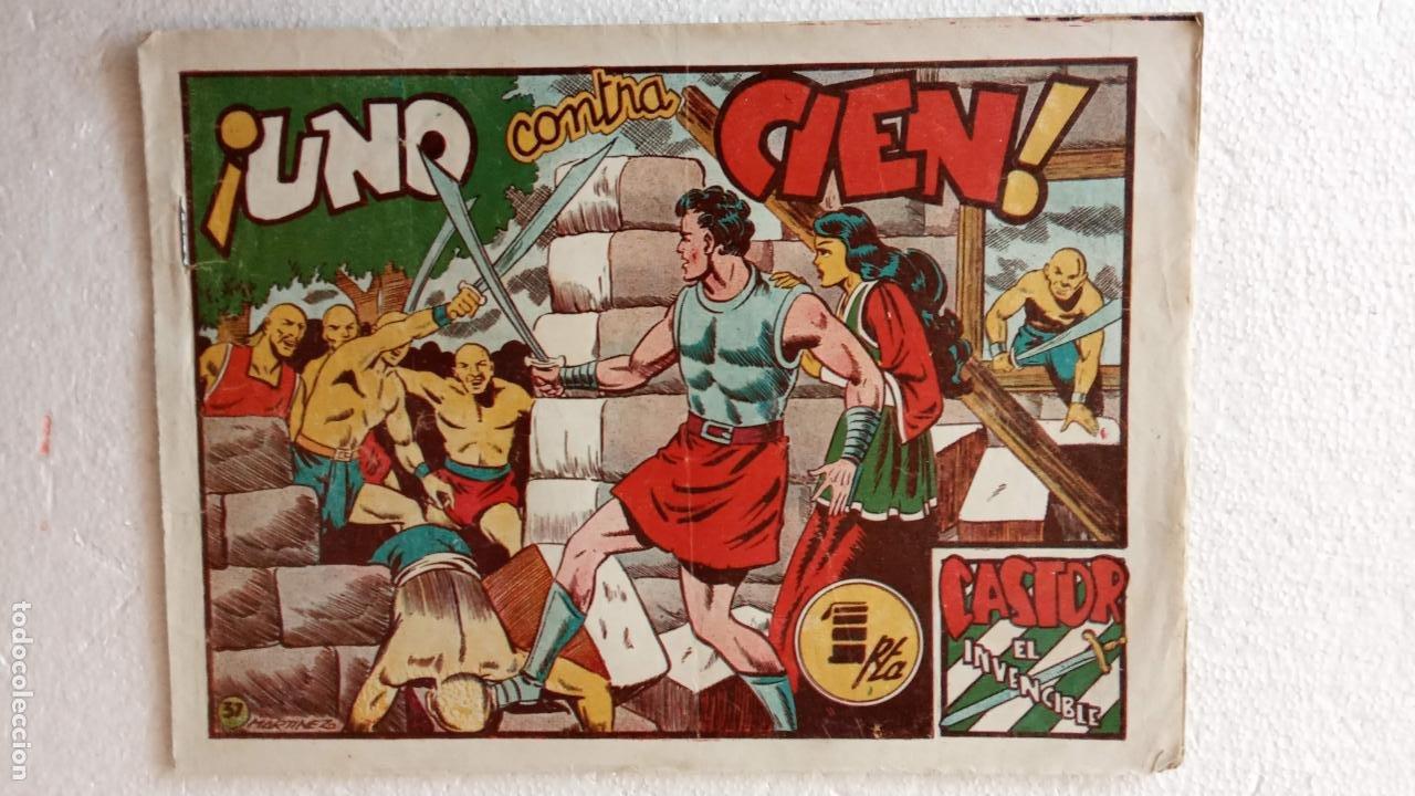 Tebeos: CASTOR EL INVENCIBLE ORIGINALES 1951 EDI. MARCO - POR MARTÍNEZ - VER TODAS LAS PORATADAS Y CONTRAS - Foto 43 - 236657270