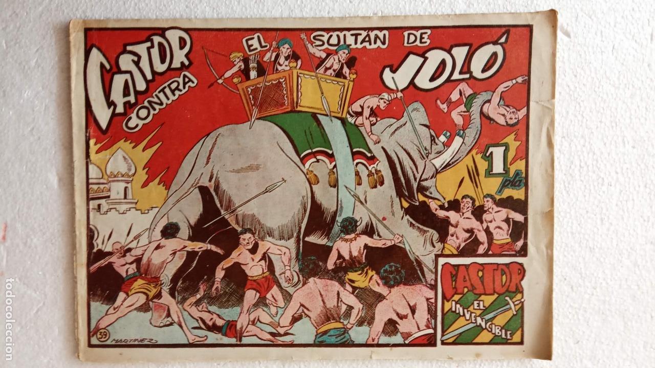 Tebeos: CASTOR EL INVENCIBLE ORIGINALES 1951 EDI. MARCO - POR MARTÍNEZ - VER TODAS LAS PORATADAS Y CONTRAS - Foto 49 - 236657270