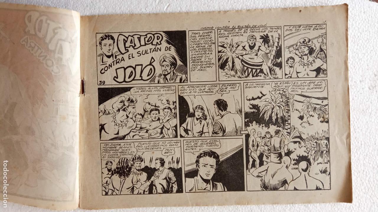 Tebeos: CASTOR EL INVENCIBLE ORIGINALES 1951 EDI. MARCO - POR MARTÍNEZ - VER TODAS LAS PORATADAS Y CONTRAS - Foto 50 - 236657270