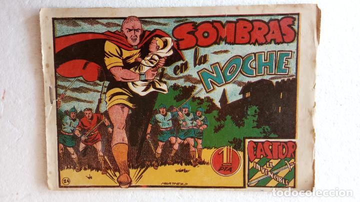 Tebeos: CASTOR EL INVENCIBLE ORIGINALES 1951 EDI. MARCO - POR MARTÍNEZ - VER TODAS LAS PORATADAS Y CONTRAS - Foto 52 - 236657270