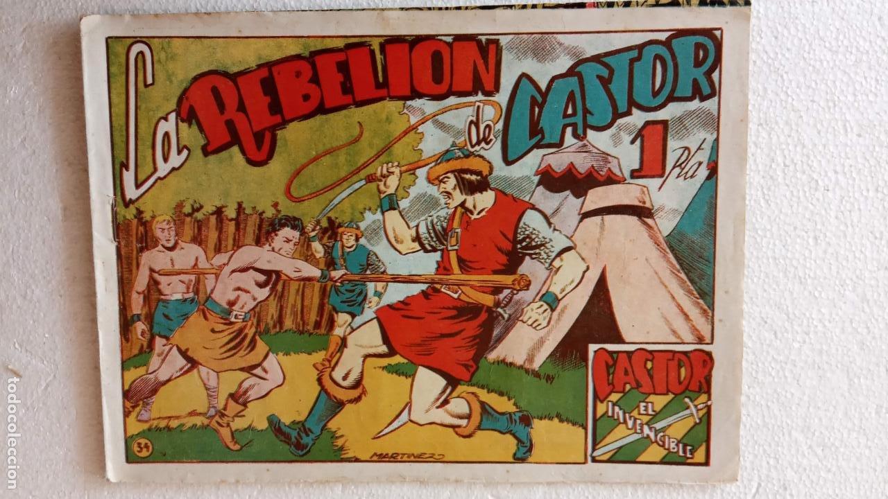 Tebeos: CASTOR EL INVENCIBLE ORIGINALES 1951 EDI. MARCO - POR MARTÍNEZ - VER TODAS LAS PORATADAS Y CONTRAS - Foto 55 - 236657270