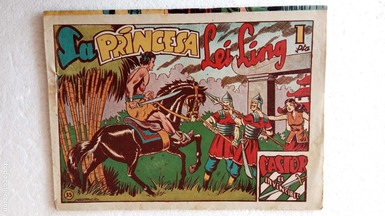 Tebeos: CASTOR EL INVENCIBLE ORIGINALES 1951 EDI. MARCO - POR MARTÍNEZ - VER TODAS LAS PORATADAS Y CONTRAS - Foto 56 - 236657270
