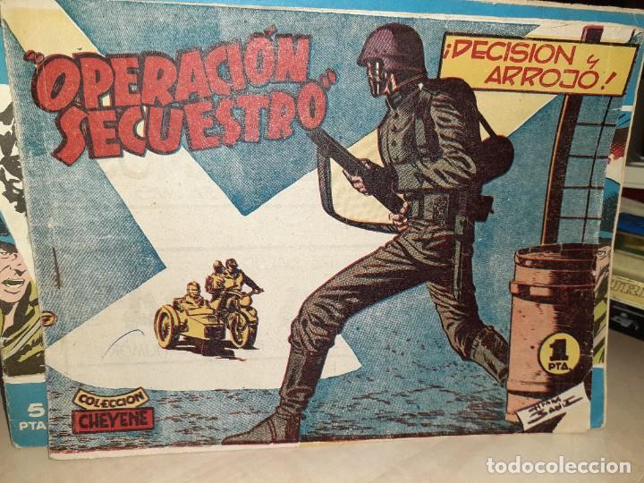 COLECCIÓN CHEYENE 1959.OPERACIÓN SECUESTRO.DECISIÓN Y ARROJO.EDITORIAL MARCO. (Tebeos y Comics - Marco - Otros)