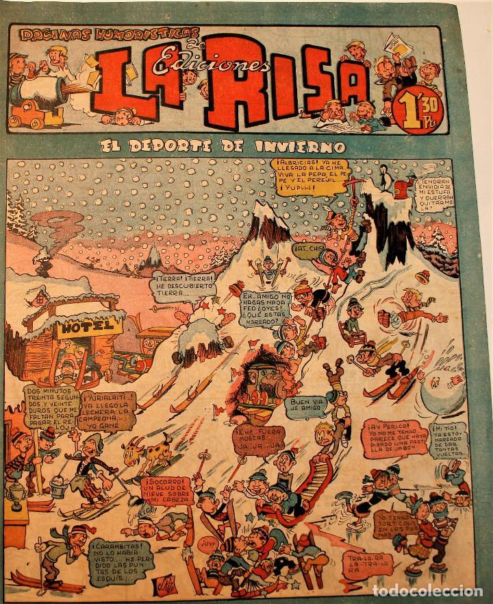LA RISA, EDITORIAL MARCO, 2 NÚMEROS ORIGINALES 1952 ( 73 Y 220 ) (Tebeos y Comics - Marco - La Risa)
