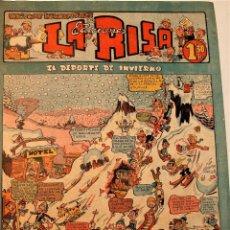 Tebeos: LA RISA, EDITORIAL MARCO, 2 NÚMEROS ORIGINALES 1952 ( 73 Y 220 ). Lote 237161015