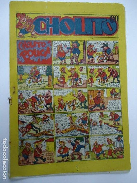 1947 CHOLITO POLICIA EDITORIAL MARCO MIDE 25 X 17CM. (Tebeos y Comics - Marco - Otros)
