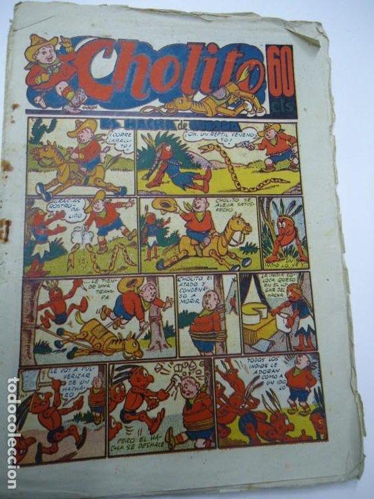 1947 CHOLITO Nº 10 EL HACHA DE GUERRA EDITORIAL MARCO MIDE 24 X 17CM (Tebeos y Comics - Marco - Otros)