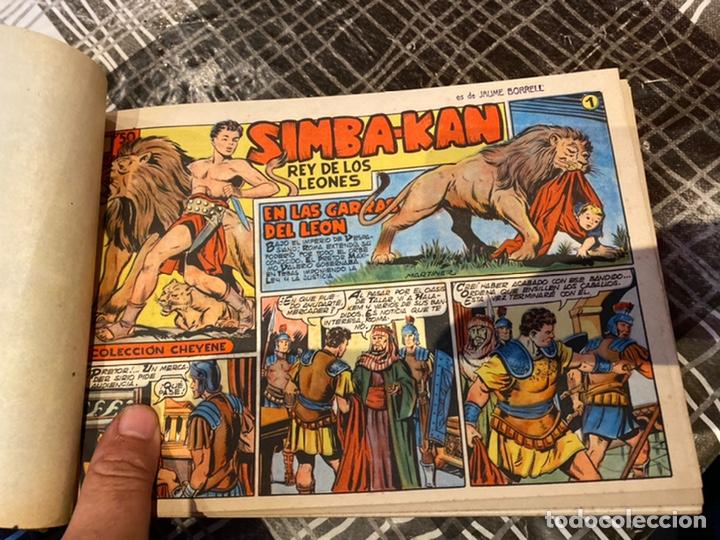 Tebeos: Coleccion completa 60 tebeos simba- kan rey del leonés . Encuadernados en un tomo . Originales 1959. - Foto 6 - 242137545