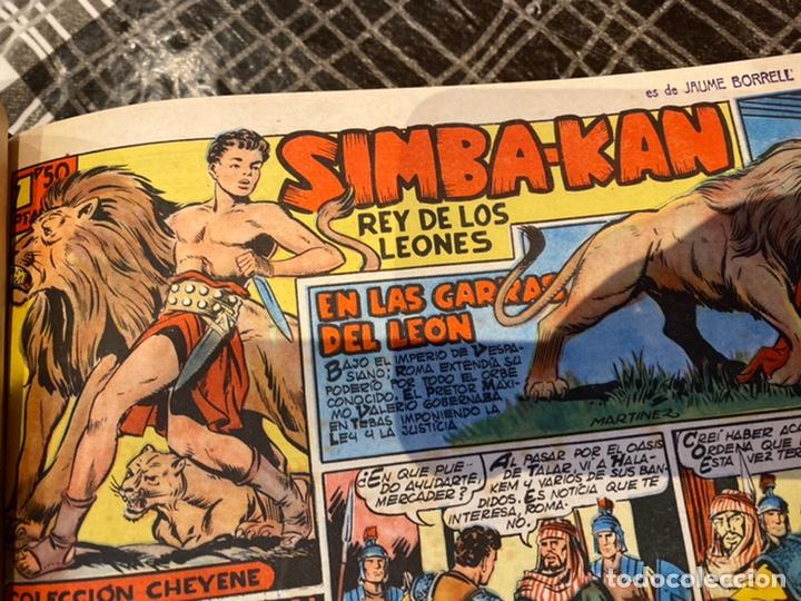 Tebeos: Coleccion completa 60 tebeos simba- kan rey del leonés . Encuadernados en un tomo . Originales 1959. - Foto 8 - 242137545