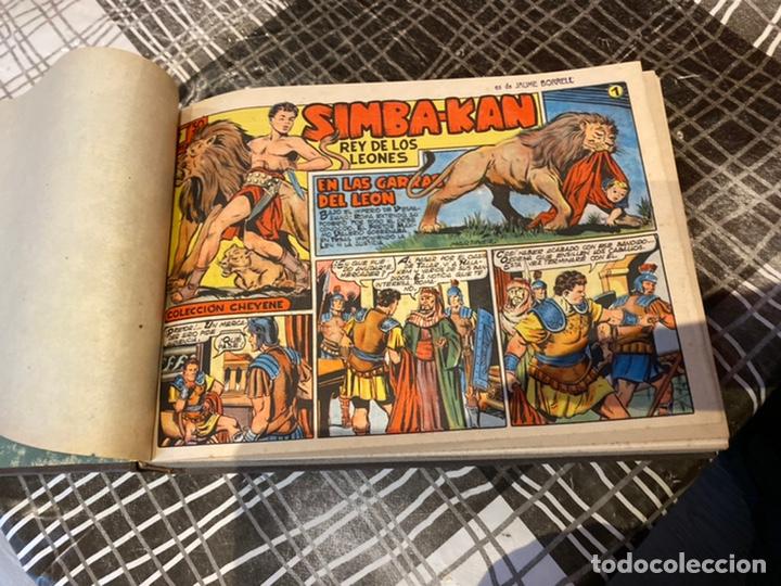 Tebeos: Coleccion completa 60 tebeos simba- kan rey del leonés . Encuadernados en un tomo . Originales 1959. - Foto 9 - 242137545