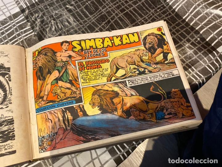 Tebeos: Coleccion completa 60 tebeos simba- kan rey del leonés . Encuadernados en un tomo . Originales 1959. - Foto 10 - 242137545