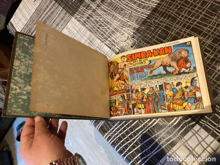 Tebeos: Coleccion completa 60 tebeos simba- kan rey del leonés . Encuadernados en un tomo . Originales 1959. - Foto 3 - 242137545