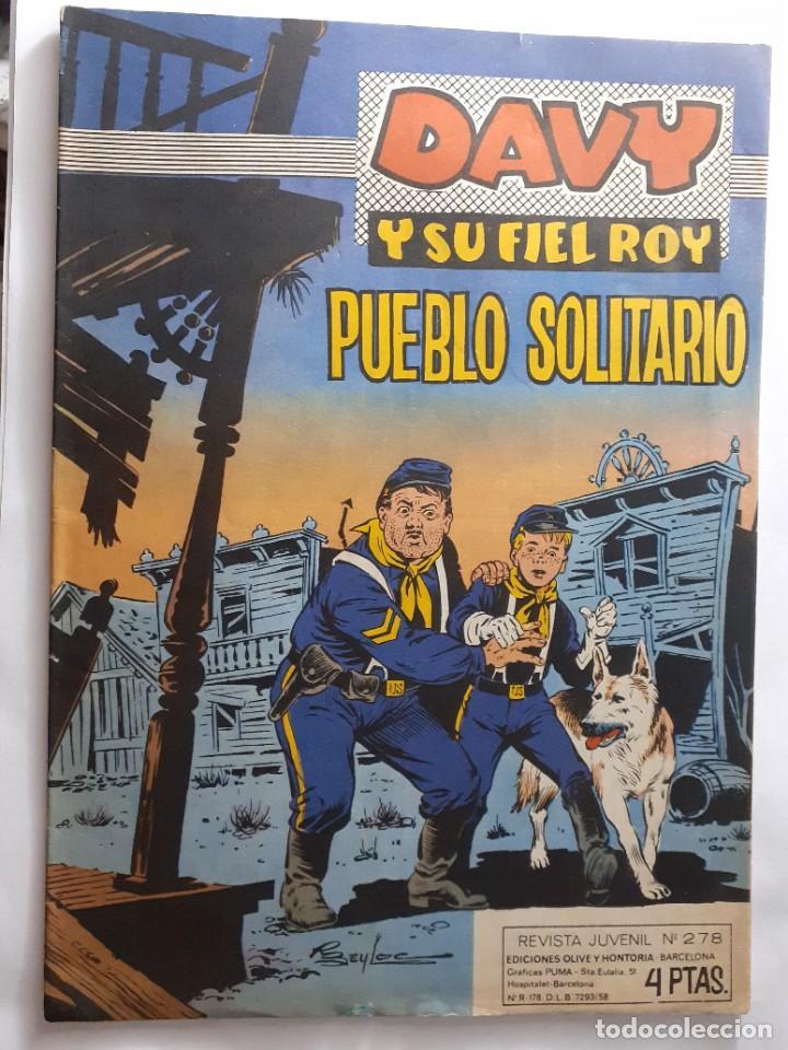 Tebeos: DAVY Y SU FIEL ROY- Nº 278 -PUEBLO SOLITARIO-1966-GRAN RICARDO BEYLOC-BUENO-ÚNICO EN TC-LEAN-4337 - Foto 2 - 243172420