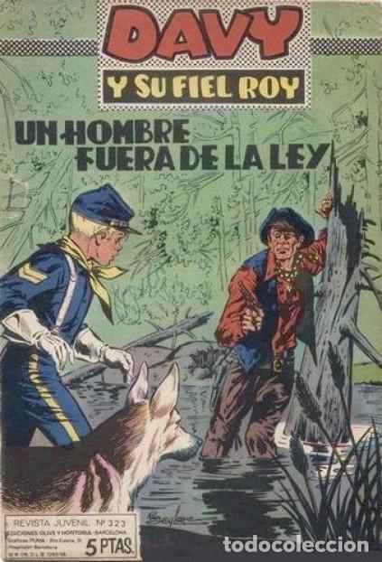 DAVY Y SU FIEL ROY- Nº 323 -UN HOMBRE FUERA DE LA LEY-1967-MASCARÓ-CORRECTO-ÚNICO EN TC-LEAN-4338 (Tebeos y Comics - Marco - Rin-Tin-Tin)