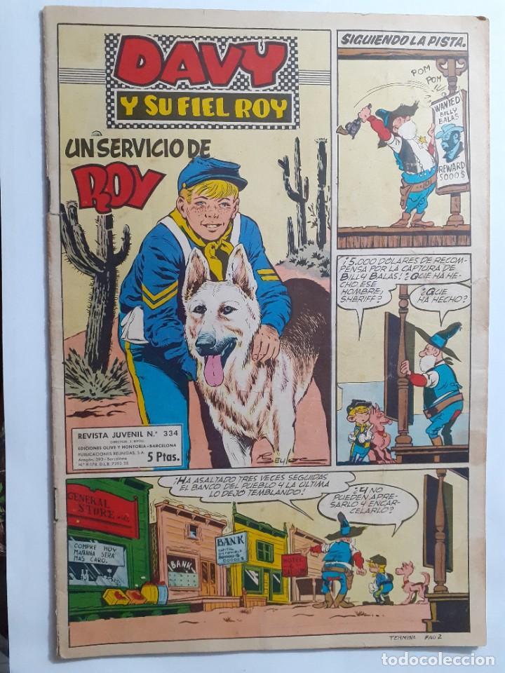 Tebeos: DAVY Y SU FIEL ROY- Nº 334 - UN SERVICIO DE ROY- 1967-GRAN RIBA COMPTE-ÚNICO EN TC-BUENO-LEAN-4339 - Foto 2 - 243177775