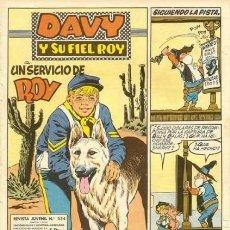 Tebeos: DAVY Y SU FIEL ROY- Nº 334 - UN SERVICIO DE ROY- 1967-GRAN RIBA COMPTE-ÚNICO EN TC-BUENO-LEAN-4339. Lote 243177775