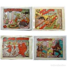 Tebeos: LOTE 4 TEBEOS EDITORIAL MARCO-FANTOMAS-LA GRAN PATINADORA- SCHEREZHADE-LA CASA MALDITA-1942-AÑOS 40. Lote 248574675