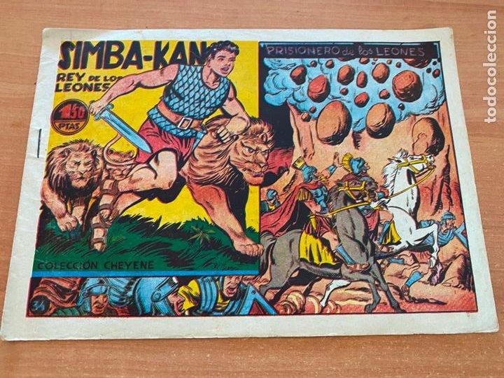 SIMBA-KAN REY DE LOS LEONES Nº 34 PRISIONERO DE LOS LEONES (MARCO) ORIGINAL (COIB26) (Tebeos y Comics - Marco - Otros)