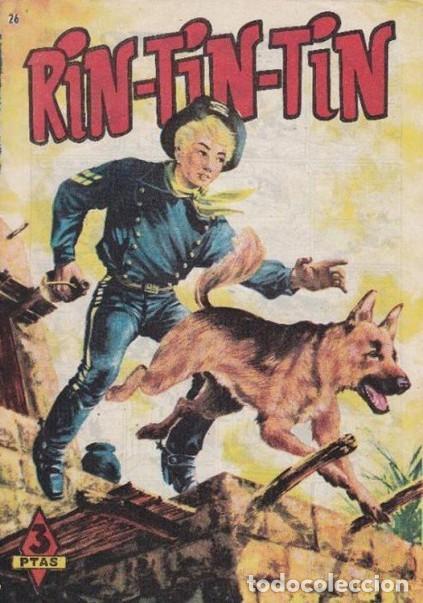 RIN TIN TIN- Nº 26 -ASESINO EN FUGA-1962-JAIME BLASCO-CORRECTO-MUY DIFÍCIL Y ESCASO-LEAN-4621 (Tebeos y Comics - Marco - Rin-Tin-Tin)