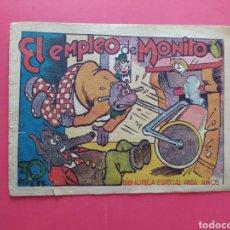 Tebeos: EL EMPLEO DE MONITO - BIBLIOTECA ESPECIAL PARA NIÑOS. Lote 260760200