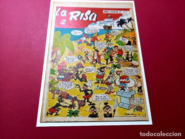 LA RISA Nº 217 -MARCO-CON MELENAS-HACIENDO EL INDIO- DE F.IBAÑEZ-LEER DESCRIPCION (Tebeos y Comics - Marco - La Risa)