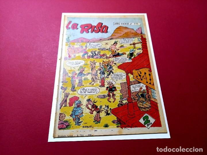 Tebeos: LA RISA Nº 218 - CON NICOMEDES CAMUESO -KOKOLO-HACIENDO EL INDIO-DE F.IBAÑEZ - - Foto 2 - 263712660