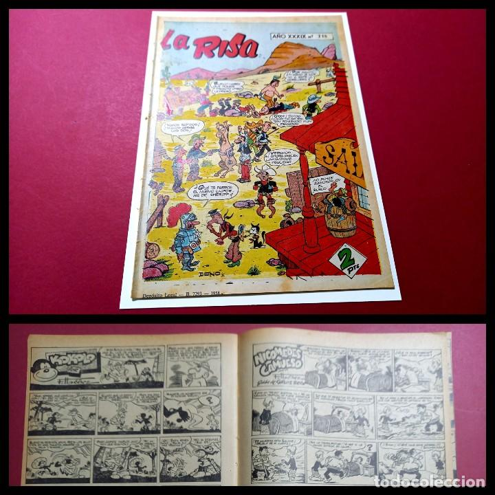 LA RISA Nº 218 - CON NICOMEDES CAMUESO -KOKOLO-HACIENDO EL INDIO-DE F.IBAÑEZ - (Tebeos y Comics - Marco - La Risa)