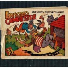 Tebeos: BIBLIOTECA ESPECIAL PARA NIÑOS. EPISODIO CAMPESTRE. MARCO AÑOS 40. ORIGINAL. Lote 265988763