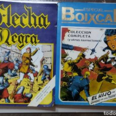 Tebeos: 2 TOMOS ESPECIAL BOIXCAR -FLECHA NEGRA Y EL HIJO DEL DIABLO DE LOS MARES .1980. Lote 274941058