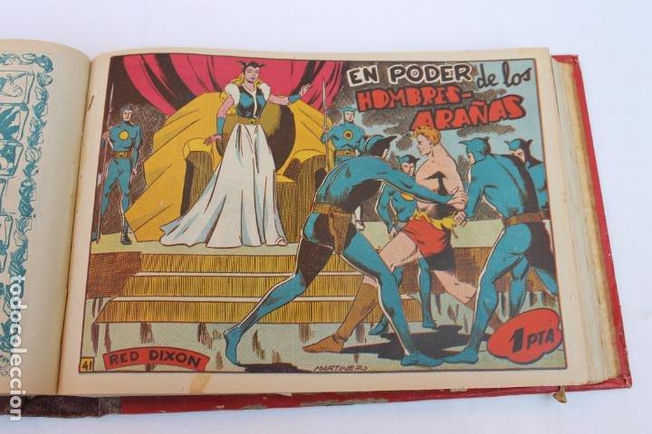Tebeos: RED DIXON 1ª SERIE COMPLETA 70UNIDADES, ENCUADERNADOS 1954, EDITORIAL MARCO - Foto 5 - 277451483