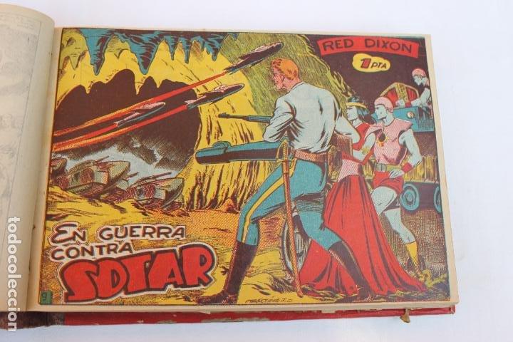 Tebeos: RED DIXON 1ª SERIE COMPLETA 70UNIDADES, ENCUADERNADOS 1954, EDITORIAL MARCO - Foto 7 - 277451483