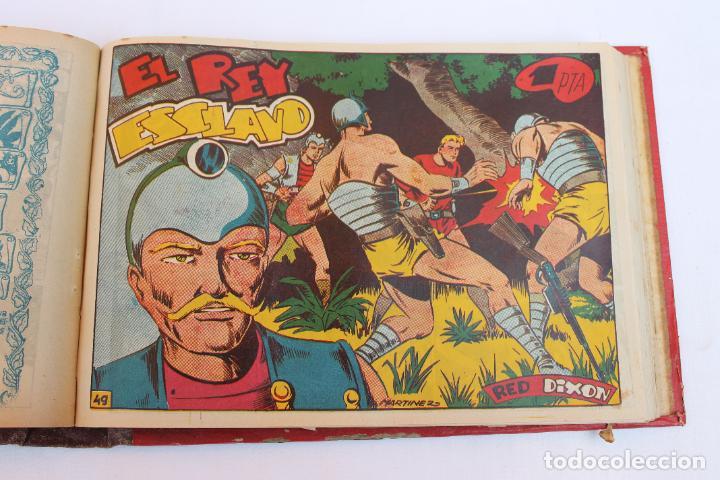 Tebeos: RED DIXON 1ª SERIE COMPLETA 70UNIDADES, ENCUADERNADOS 1954, EDITORIAL MARCO - Foto 8 - 277451483