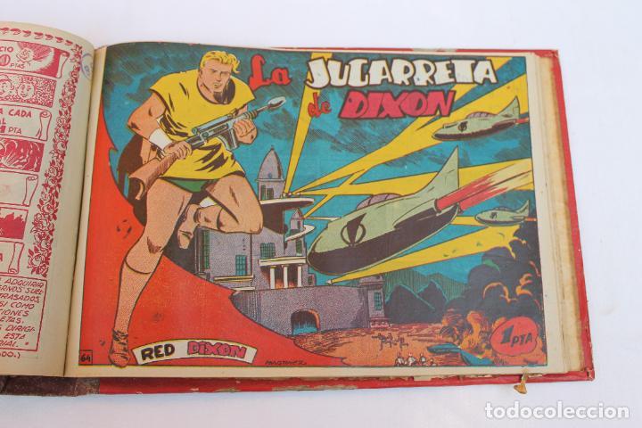 Tebeos: RED DIXON 1ª SERIE COMPLETA 70UNIDADES, ENCUADERNADOS 1954, EDITORIAL MARCO - Foto 9 - 277451483